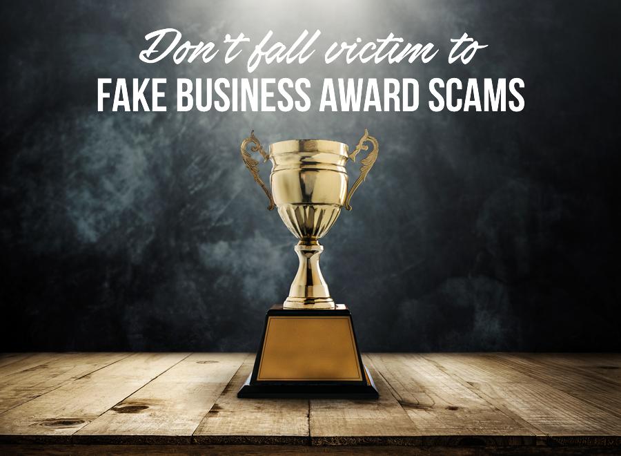 fake award scams